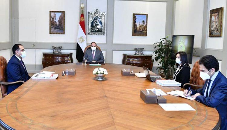 اجتماع السيد الرئيس بمع رئيس الوزراء ورئيس المجلس القومى للمراة